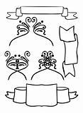 Banner Vintage frame, design elements, web vector  decoration
