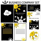 Corporate human presentation, report template. Cogs backgrounds,