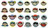 diversity Child, baby, kids face icons design elements