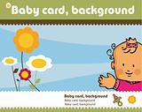 family kids background, fake paper card, presentation layout
