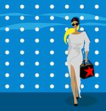 fashion woman background, fake card, poster