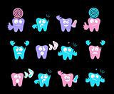 Happy smile, medical teeth care concept, vector emotions