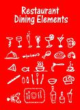 Restaurant, Dining Elements, vector food icons set