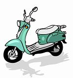retro moped, vector transportation, moto