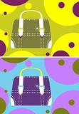 Vector fashion woman glamour bag cards, background