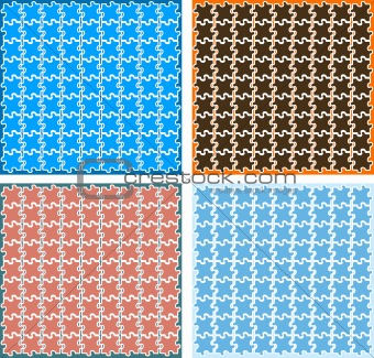 Vector puzzle backgrounds, wallpapers, pattern