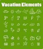 Vector vacation icon set, Travel, nature, food, finance, house,