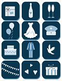 wedding event web button, emblem set, tag, button, emblem