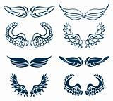 Wing Set, vector decor elements
