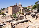 Landscape view of roman forum in Rome, Italy