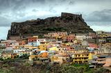 The colorful center of Castelsardo