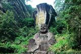 Statue of smiling buddha