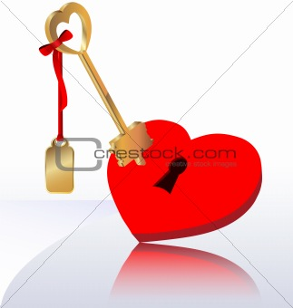 heart with the key