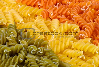 3 colors fusilli