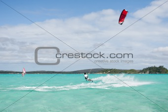 Kitesurf in the lagoon