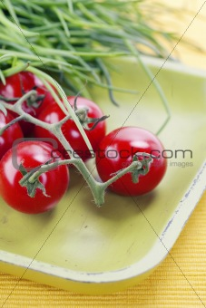 tomatoes and chives