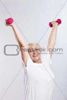Sports elderly woman