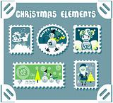 winter postage set 