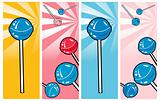 Pop Art comic style Banners set Lollipop Clipart Picture