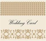 white lace wedding card