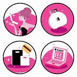 Shopaholic icons