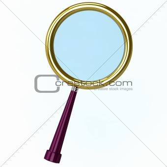 3d illustration of a magnifying lens