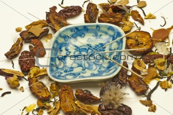 Acupuncture needle and chinese herbs