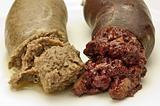 blood sausage and liversausage