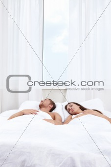 Sleeping people