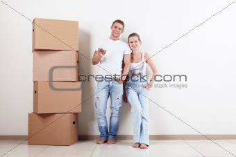 Happy owners of apartments
