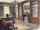 Interior sketch of the cabinet