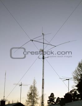 Antennas on rooftops