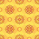Background, red pattern on yellow