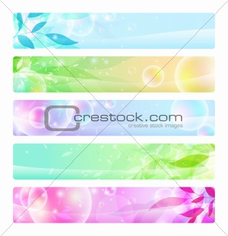 glossy banners colorful, headers