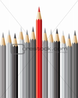 pencils, leadership concept