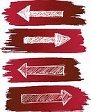 arrows set grunge
