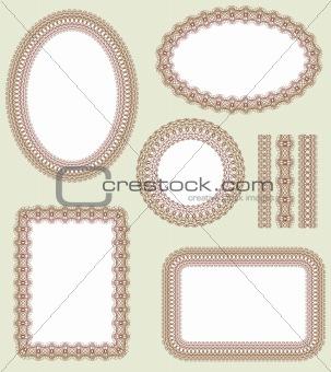 Frame set. Decorative vector elements