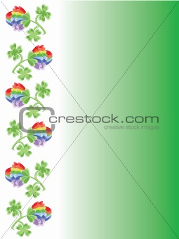 Background with clovers