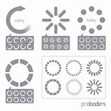 Web 2.0 Vector Progress Loader Icons