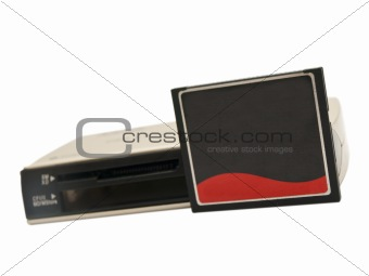 Card reader and memory card