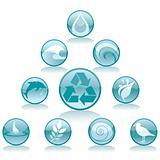 Water Recycling Icons