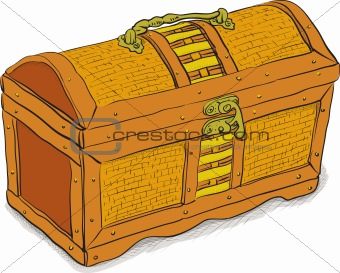 Ancient pirate chest - vector eps8