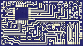Background for business cards - circuit board