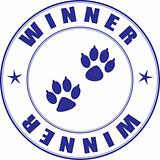 Stamp for diploma - winner pets exhibition