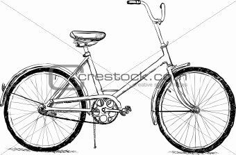 Old bicycle - vector eps8