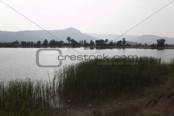 calm lake and mountains