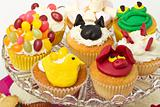 Unique homemade cupcakes selection