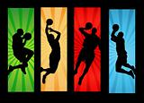 Basketball players illustration