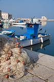 View of Trani seaport. Apulia.