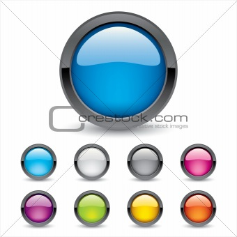 Colored 3d Buttons